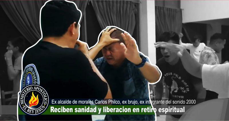 Carlos Philco, ex alcalde del distrito de Morales fue liberado de satanás