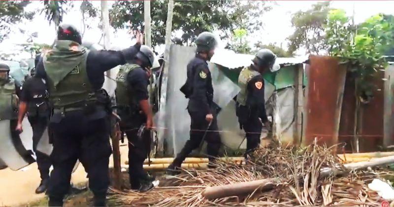 Policía desaloja a extranjeros y peruanos de terreno en el sector Ventanilla