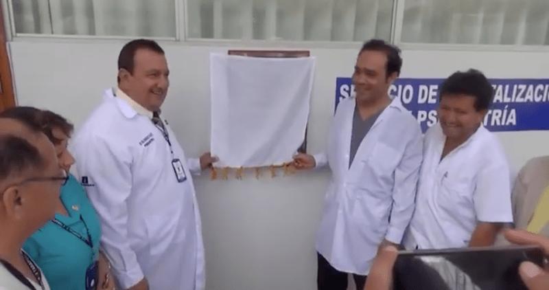 Inauguran unidad de salud mental en el Hospital regional de Tarapoto