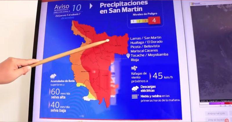 Pronostican lluvia de moderada a fuerte intensidad a partir del 05 de diciembre