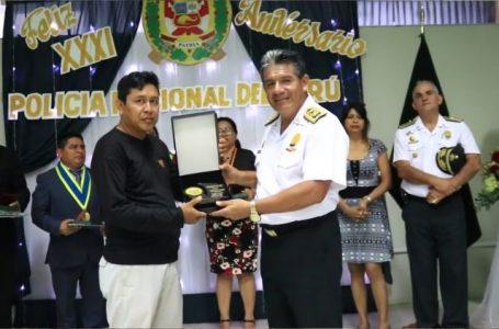 Macro Región Policial realiza reconocimiento reportero de VIA Televisión