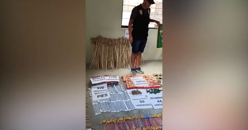 Tarapoto: incautan cerca de 25 mil unidades de pirotécnicos