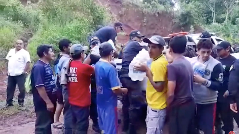 Policía Nacional entrega ayuda humanitaria a  afectados por inclemencias del tiempo en Soritor