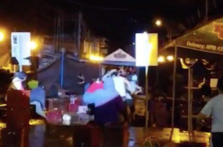Moyobamba: fiesta del carnaval terminó en enfrentamiento con botellas de cerveza