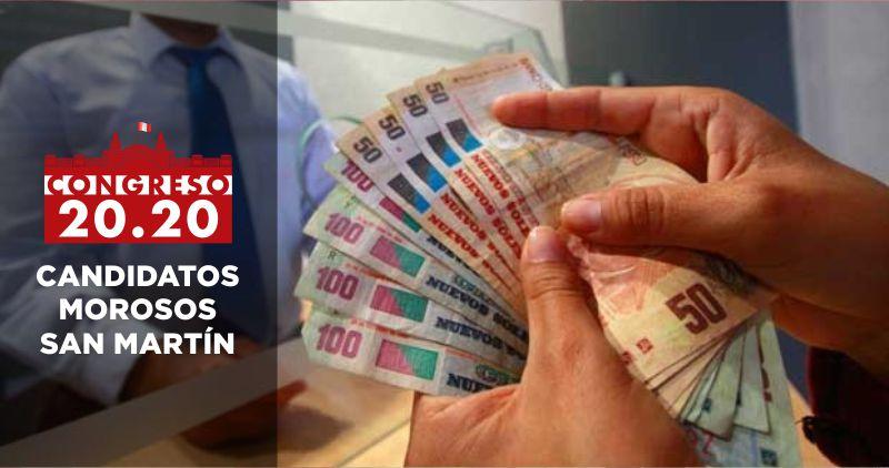 San Martín: 17 candidatos al Congreso son morosos en entidades financieras