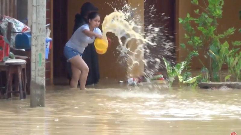Torrencial lluvia deja en la provincia 226 personas y damnificadas y 148 afectadas