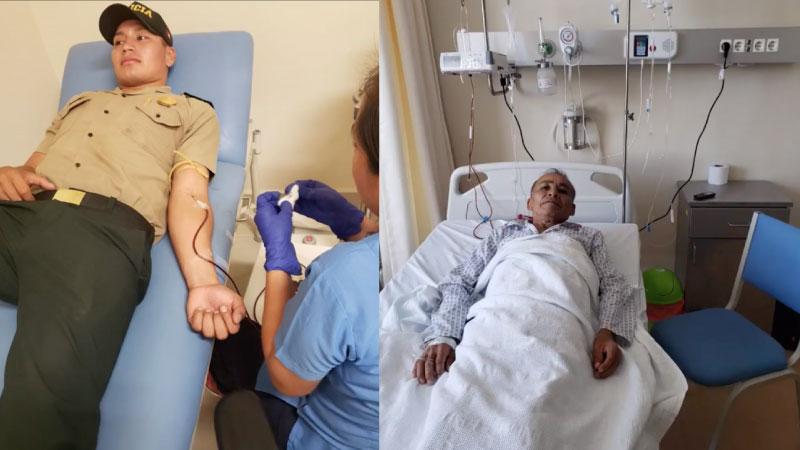Suboficial de la PNP dona sangre a persona que requería una unidad con urgencia