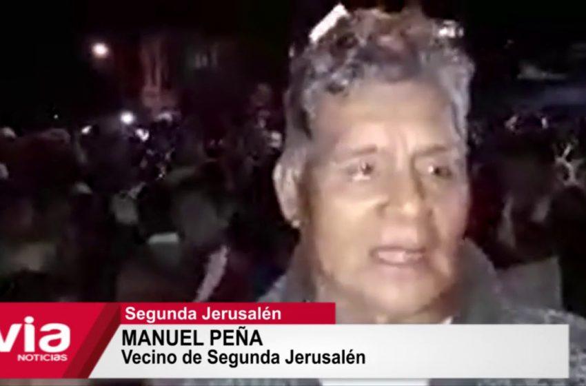 Población realiza marcha de protesta en defensa de la quebrada Tioyacu