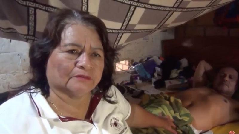 Obrero postrado desde hace nueve años recibe apoyo solidario