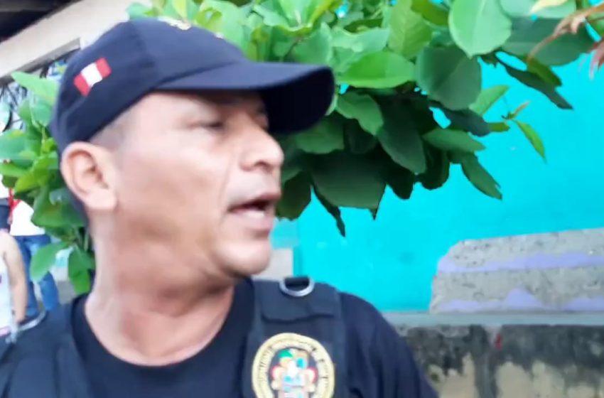 Tarapoto: al parecer por venganza propinan golpes a policía municipal