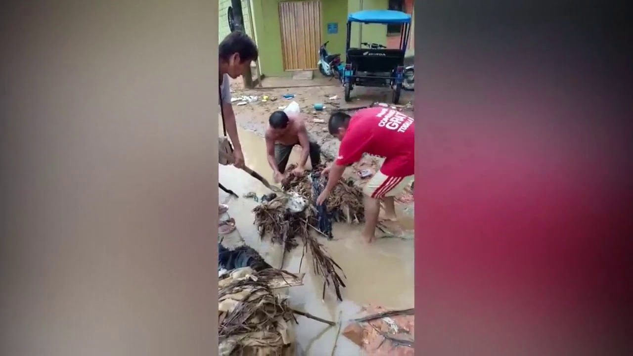 Torrencial lluvia vuelve a registrase en la región dejando vivienda inundadas