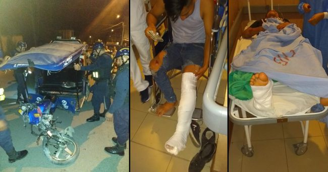 Tarapoto: despiste de mototaxi deja dos heridos de consideración