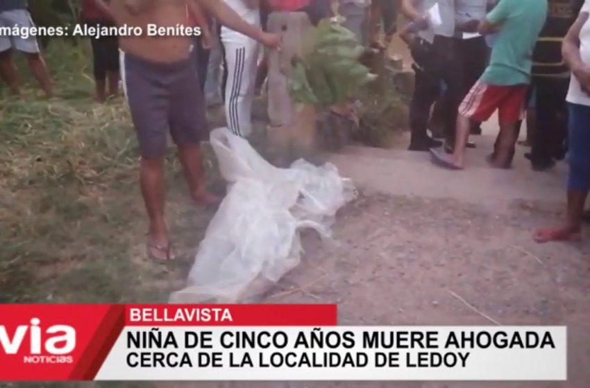 Bellavista: niña de cinco años muere ahogada cerca de la localidad de Ledoy