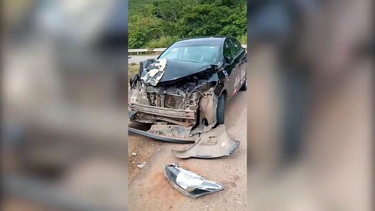 Juan Guerra: accidente en la entrada a Sauce deja dos personas heridas