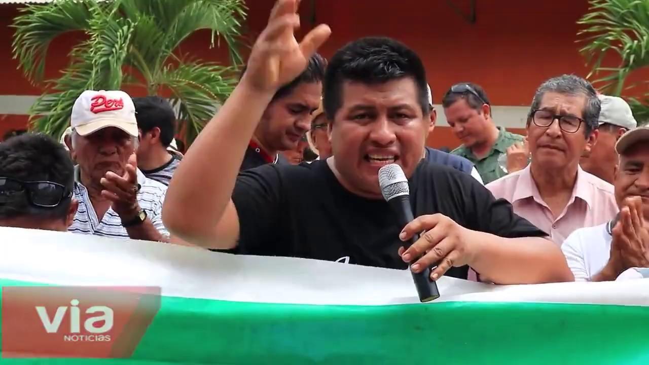 Tarapoto: decenas de personas participaron de la movilización contra Emapa