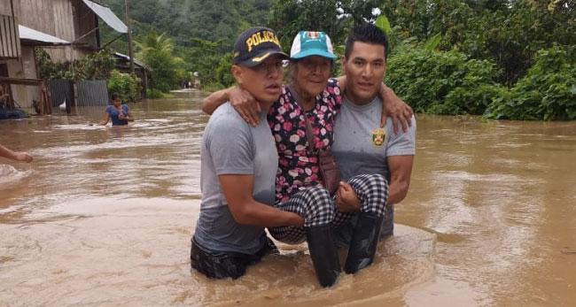 Campanilla: desborde del Río Huallaga deja  al menos 150 familias afectadas