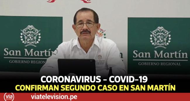 Región San Martín confirma su segundo caso de paciente con coronavirus