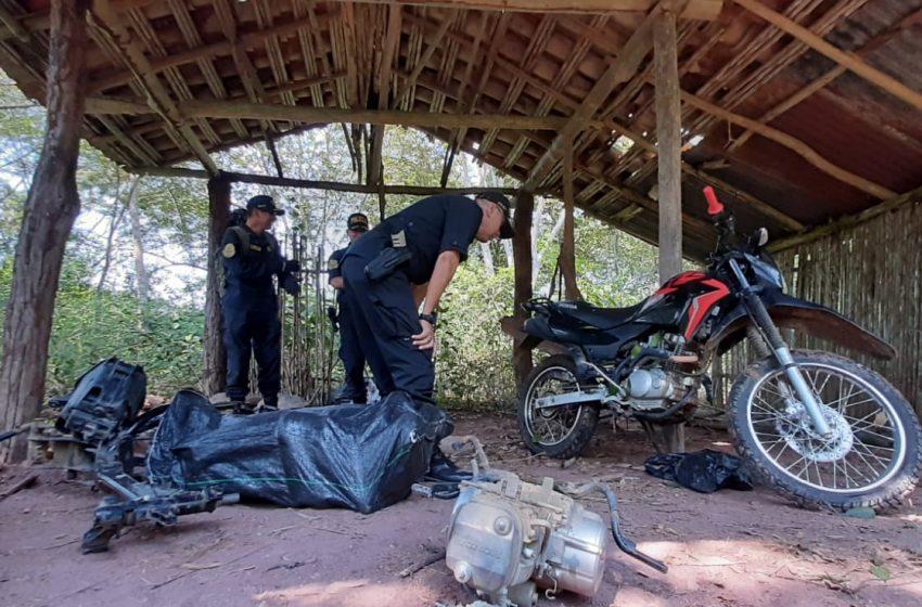 "Morales: Grupo Terna desarticula ""caleta"" donde desmantelaban motos hurtadas"