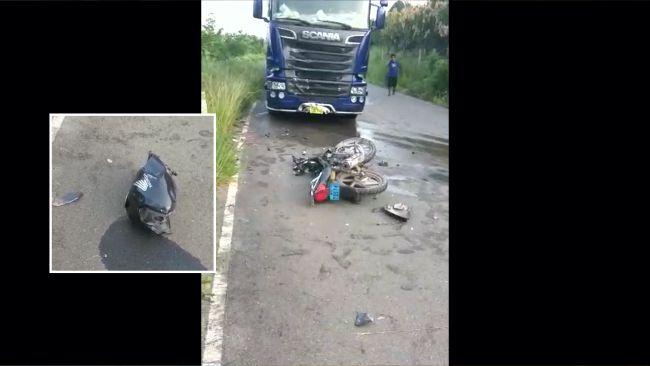 Motociclista muere al chocar con un camión en la carretera a San José de Sisa