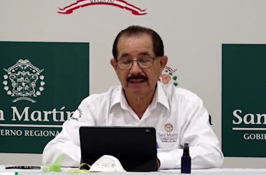 Gobernador regional Pedro Bogarín confirmó paciente con coronavirus en Juanjuí