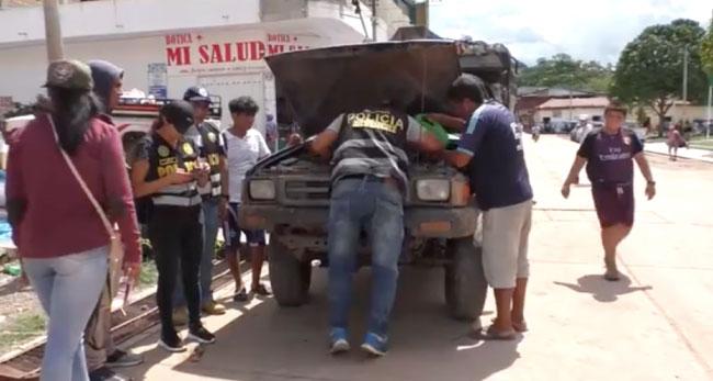 Picota: intervienen camioneta y camión fuso con numero de motor regrabado