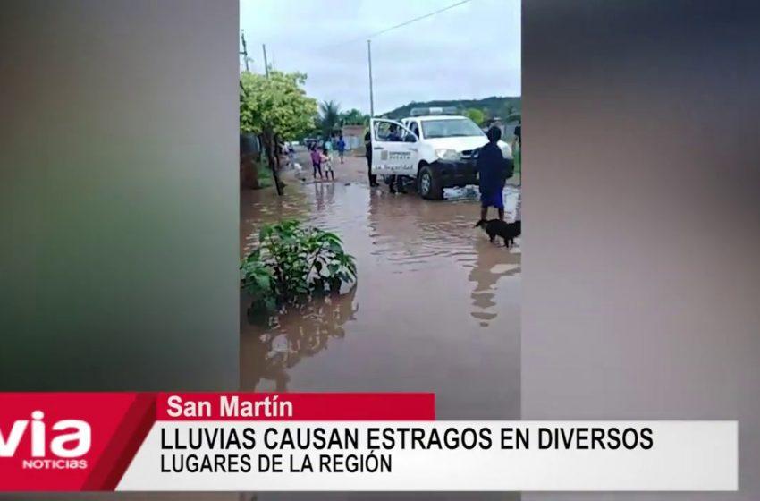 San Martín: lluvias causan estragos en diversos lugares de la región