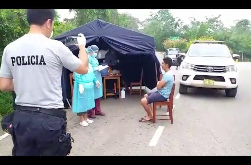 Saposoa: Salud y PNP Instalan puesto de control para detectar casos sospechosos