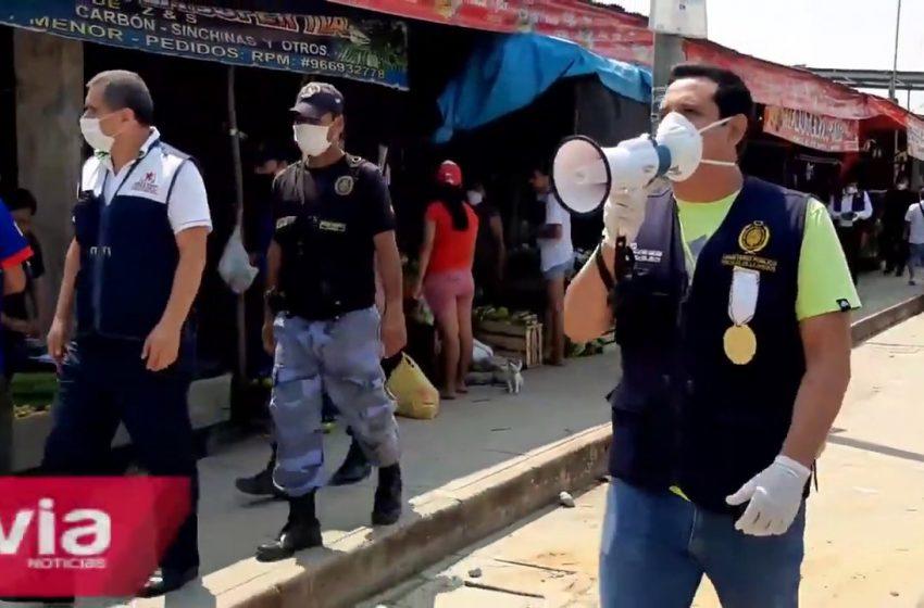 Tarapoto: fiscalía continúa exhortando cumplir estado de emergencia