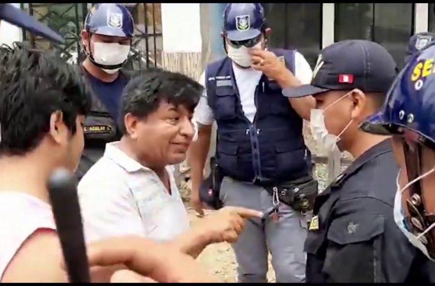 Tarapoto: intervienen a ciudadano por no cumplir el estado de emergencia