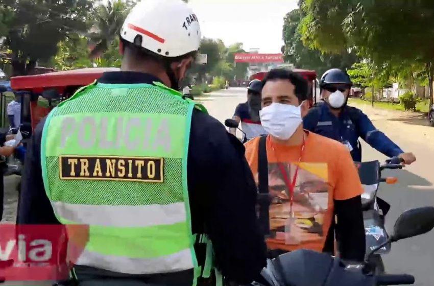 Tarapoto: policía de tránsito continúa imponiendo  papeleta de 6 mil 450 soles