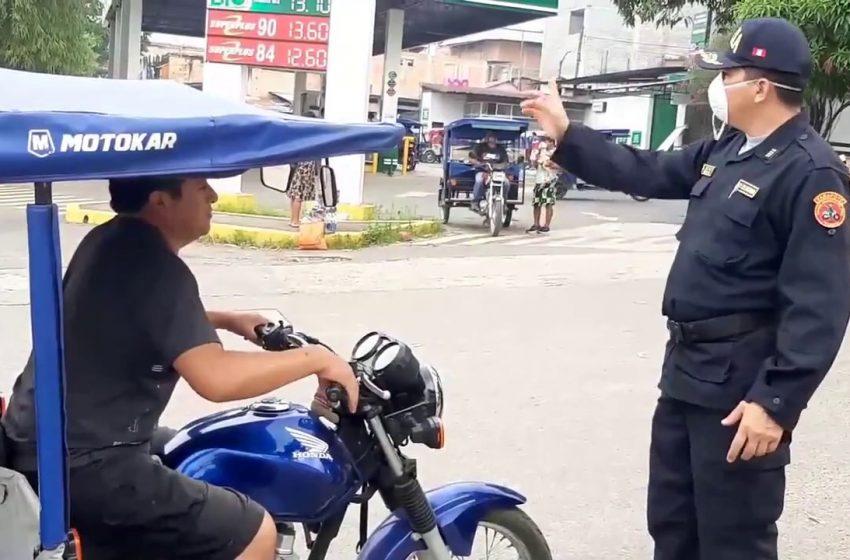 Tarapoto: restringen ingreso de vehículos al barrio Comercio