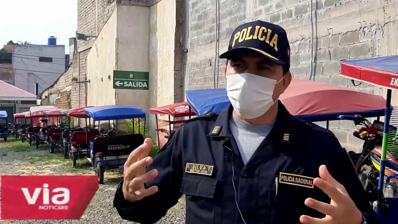Tarapoto: retienen a más de 100 motos que  no cumplían con estado de emergencia