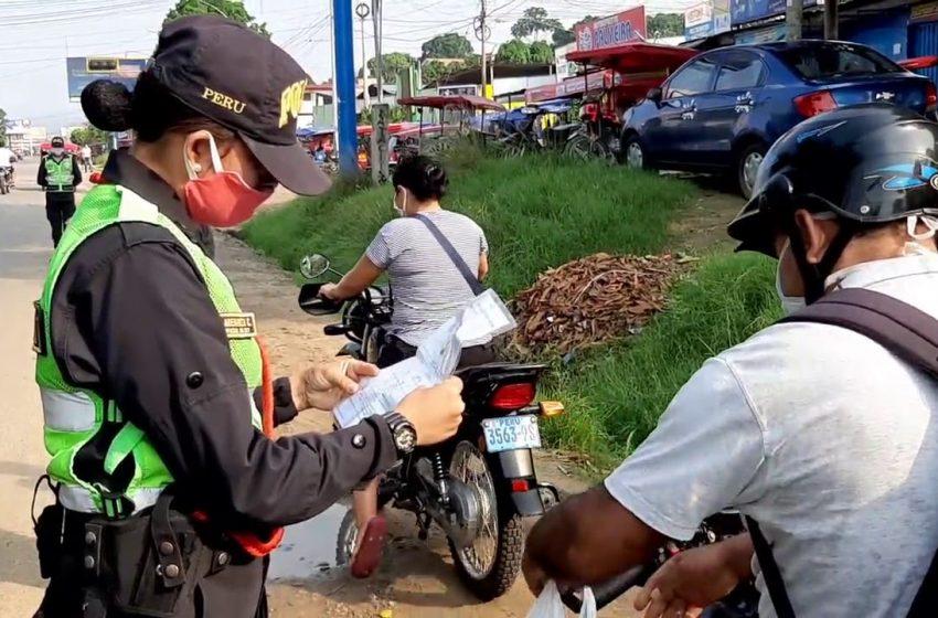 Tarapoto: retienen vehículos por desacatar estado de emergencia