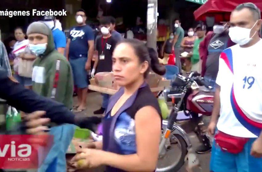 Tarapoto: vendedora ambulante que se enfrentó a autoridades durante operativo