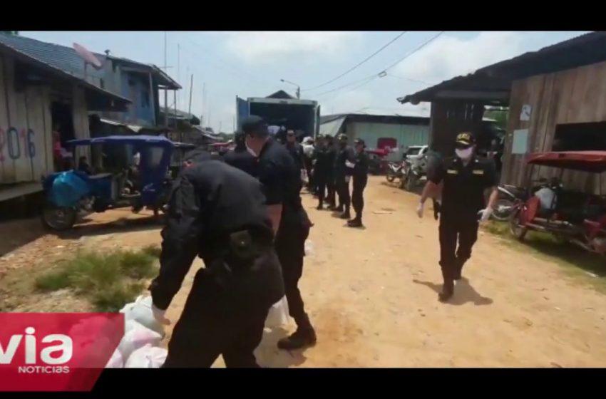 Yurimaguas: entregan víveres a familias de bajos recursos económicos