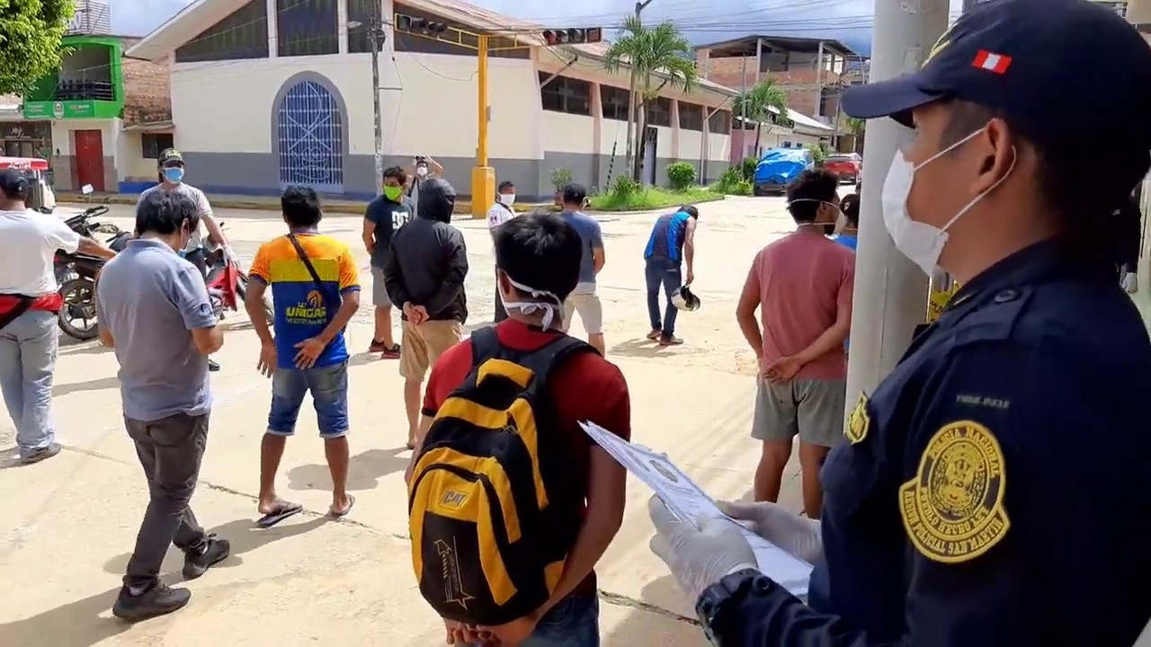 BDSH: 21 varones intervenidos por no acatar aislamiento social obligatorio