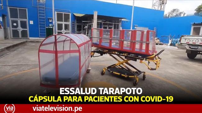EsSalud Tarapoto diseñó cápsula de aislamiento para pacientes con COVID-19