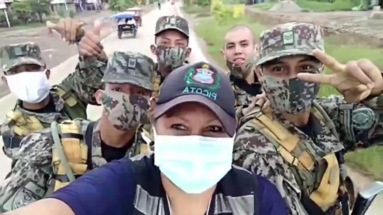 Picota: reservistas del ejército y serenos hacen respetar cuarentena