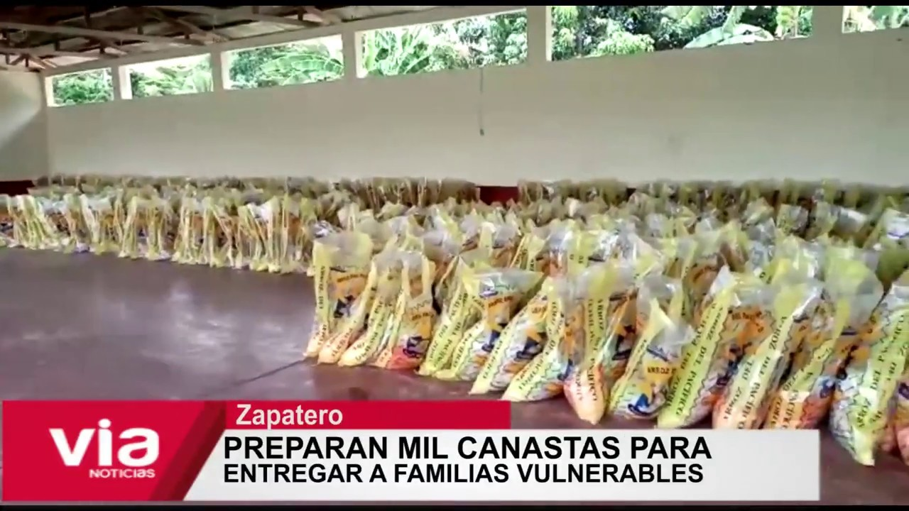 Zapatero: preparan mil canastas para  entregar a familias vulnerables