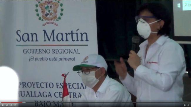 Ministra de Trabajo entrega más de 4 toneladas de ayuda médica a San Martín