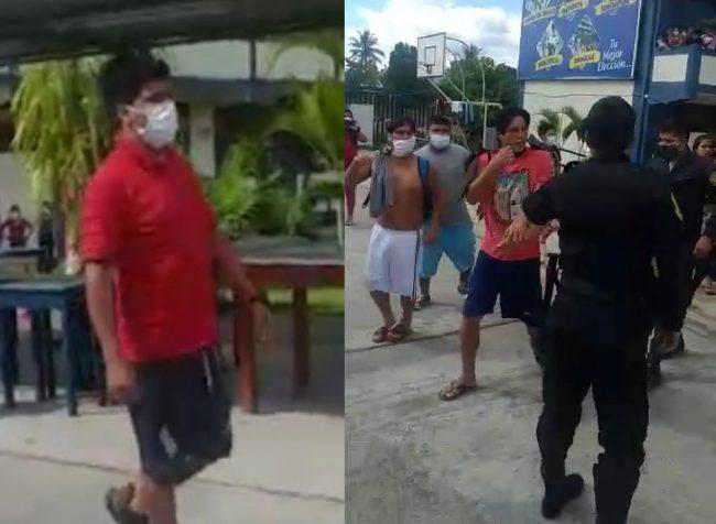 Condenan a 3 años de cárcel a sujetos que agredieron a policías en local de refugiados por cuarentena