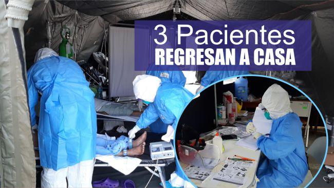 Tarapoto: 3 pacientes son dados de alta tras superar al COVID-19