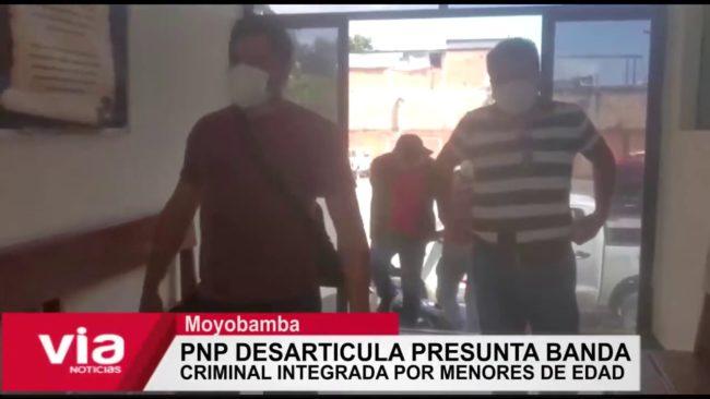 Moyobamba: Desarticulan presunta banda criminal integrada por menores de edad