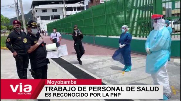 Moyobamba: trabajo de personal de salud  es reconocido por la PNP