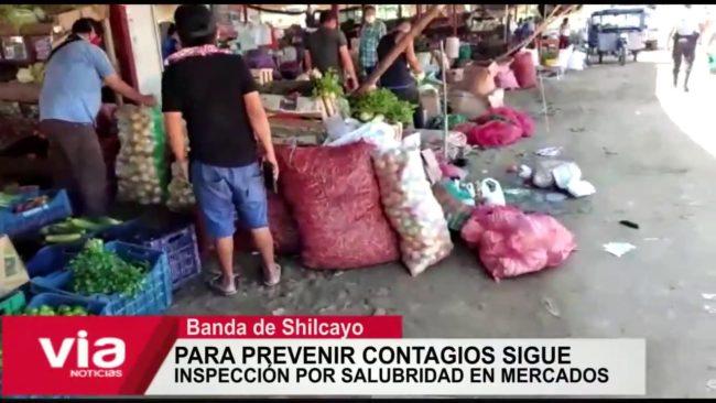 Para prevenir contagios continúa inspección por salubridad en mercados