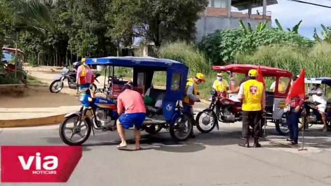 Tarapoto: realizan control estricto y desinfección  de vehículos y personas