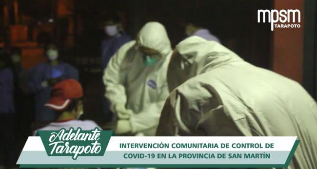 Tarapoto: visitarán casa por casa para tratar a pacientes con COVID-19
