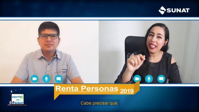 Informados con SUNAT: Renta Anual 2019 Personas