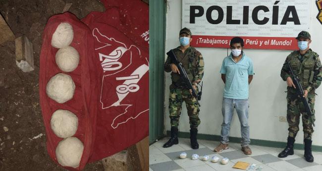 Saposoa: detienen a sujeto con  más de un kilo y medio de droga