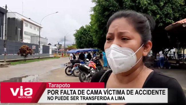 Tarapoto: por falta de cama, víctima de accidente no puede ser transferida a Lima